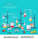 flat design vector illustration ... | Shutterstock .eps vector #434969437