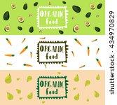 food concept. vector web... | Shutterstock .eps vector #434970829