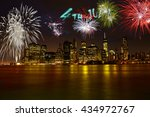 celebrating 4th of july in new... | Shutterstock . vector #434972767