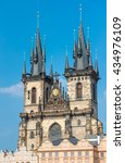 Tyn Church In Prague  Czech...