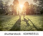 running little boy and mother... | Shutterstock . vector #434985511