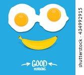 vector good morning funny... | Shutterstock .eps vector #434992915