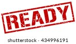 ready stamp.stamp.sign.ready. | Shutterstock .eps vector #434996191