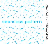 seamless confetti pattern in... | Shutterstock .eps vector #434996959