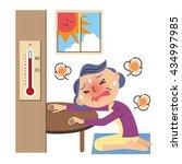 heat stroke in the room | Shutterstock .eps vector #434997985