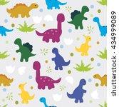 vector illustration. seamless... | Shutterstock .eps vector #434999089