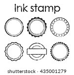 grunge rubber stamp set | Shutterstock .eps vector #435001279