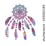 vector dream catcher. ethnic... | Shutterstock .eps vector #435002185