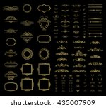 wicker lines and decor elements ... | Shutterstock .eps vector #435007909