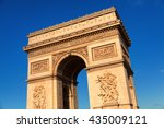 arc de triomphe in paris ... | Shutterstock . vector #435009121