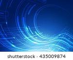 abstract technology blue... | Shutterstock .eps vector #435009874