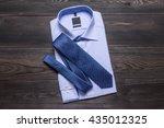 blue business shirt and blue...   Shutterstock . vector #435012325