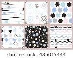 set of 6 cute different vector...   Shutterstock .eps vector #435019444