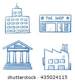 set of building icons  office ... | Shutterstock .eps vector #435024115