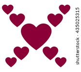 love hearts  a collection of... | Shutterstock .eps vector #435025315