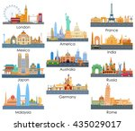 vector illustration of skyline... | Shutterstock .eps vector #435029017