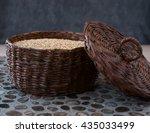 Oatmeal In A Large Wicker Box....