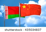 belarus flag with china flag ... | Shutterstock . vector #435034837