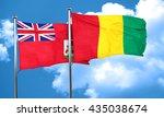 bermuda flag with guinea flag ...   Shutterstock . vector #435038674