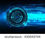 blue abstract light hi speed... | Shutterstock .eps vector #435043744