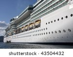 side of a luxury cruise ship... | Shutterstock . vector #43504432