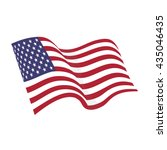 american waving flag vector... | Shutterstock .eps vector #435046435