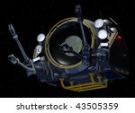 Front View of Orbital Construction Pod - stock photo