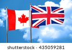 canada flag with great britain... | Shutterstock . vector #435059281