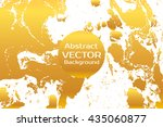 golden abstract painted marble... | Shutterstock .eps vector #435060877