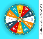 happy colorful wheel of fortune.... | Shutterstock .eps vector #435061519
