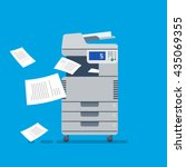 office multi function printer ... | Shutterstock .eps vector #435069355