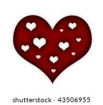 red valentine's day heart | Shutterstock . vector #43506955