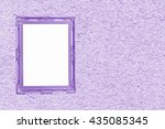purple antique picture frame on ... | Shutterstock . vector #435085345