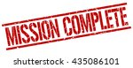mission complete stamp.stamp... | Shutterstock .eps vector #435086101