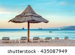 eilat is a perfect vacation... | Shutterstock . vector #435087949