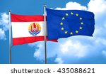 french polynesia flag with... | Shutterstock . vector #435088621