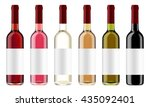 set of wine bottles with red... | Shutterstock . vector #435092401