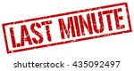 last minute stamp.stamp.sign... | Shutterstock .eps vector #435092497