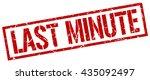 last minute stamp.stamp.sign... | Shutterstock .eps vector #435092497