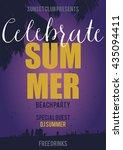 vector summer sale flyer | Shutterstock .eps vector #435094411