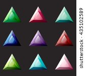 set of triangle different color ...