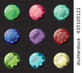 set of round different color... | Shutterstock .eps vector #435105121