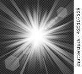 light shine with lens flare in...   Shutterstock .eps vector #435107329