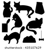 Cats And Cat Food Silhouettes...