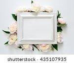 wedding invitation or bridal... | Shutterstock . vector #435107935