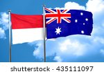 indonesia flag with australia... | Shutterstock . vector #435111097