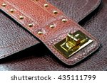 leather handbag strap with... | Shutterstock . vector #435111799