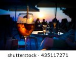 a glass of cold orange cocktail ... | Shutterstock . vector #435117271