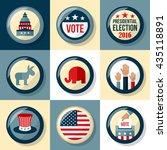 presidential election badge set....   Shutterstock .eps vector #435118891