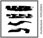 ink brush stroke with rough... | Shutterstock .eps vector #435120601